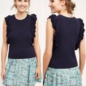 Anthropologie Knitted Knotted Sleeveless Sweater